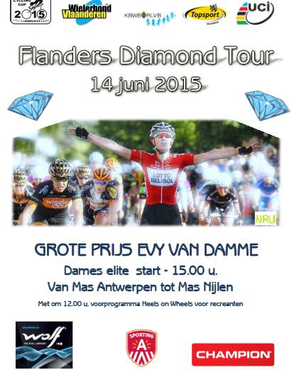 Flanders Diamond Tour op zondag 14/06
