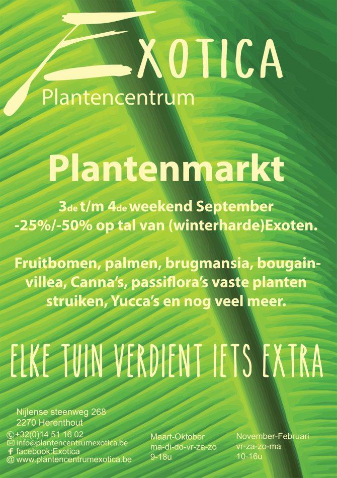 Jaarlijkse Plantenmarkt (17 september tot 25 september)